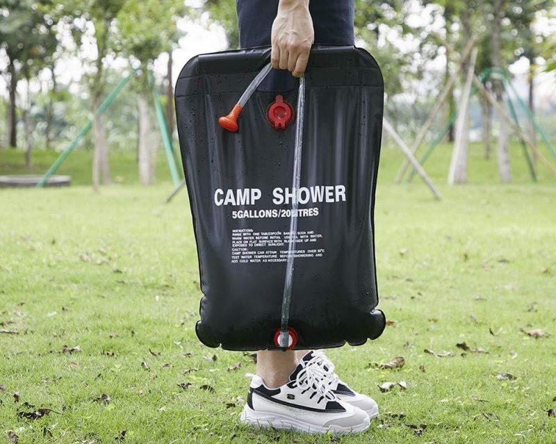 20l outdoor bath shower bag solar energy hot water bag camping equipment high qaulity