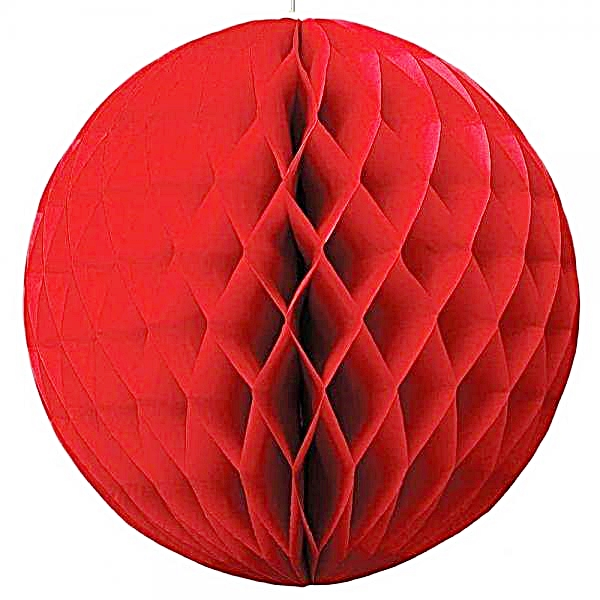 8 inch red honeycomb ball 600x600 1