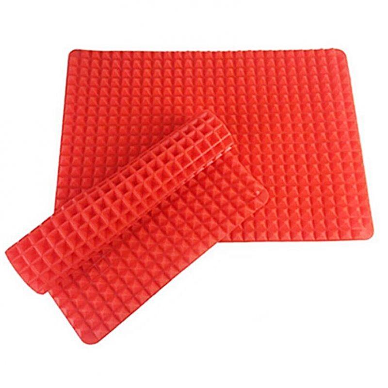 pyramid non stick silicone oven baking tray sheets mats pan fat reducing cooking 44382188