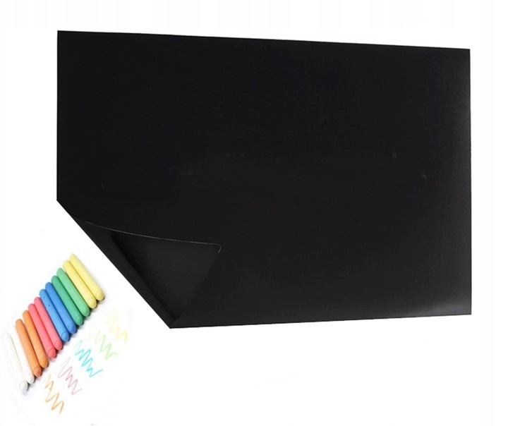 samoprzylepna tablica kredowa 45x200cm kreda 5szt